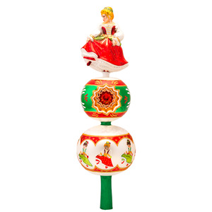 RADKO 1017330 9TH DAY FINIAL - 12 DAYS OF CHRISTMAS - TREE TOPPER - NEW 2014