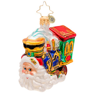RADKO 1017205 CHOO CHOO CLAUS GEM - SANTA TRAIN ORNAMENT - NEW 2014 (22)