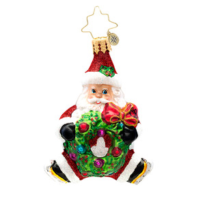 RADKO 1017207 SANTA BABY GEM - SANTA WITH WREATH ORNAMENT - NEW 2014 (22)