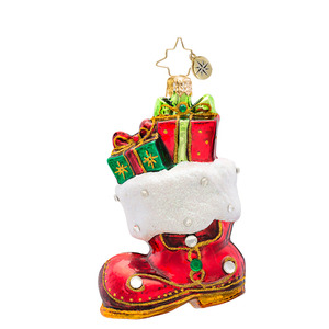 RADKO 1017392 GEM OF A BOOT GEM - JEWELED BOOT WITH GIFTS ORNAMENT - NEW 2014 (22-1)