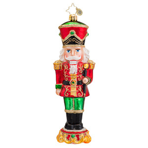 RADKO 1017031 GUILDED GUARD - NUTCRACKER WITH BATON ORNAMENT - NEW 2014 (14-3)