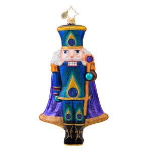 RADKO 1017068 SUGAR PLUME - PEACOCK NUTCRACKER ORNAMENT - NEW 2014 (14-4)
