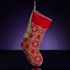 RADKO 2012004 CONTEMPORARY SNOWFLAKE NEEDLEPOINT STOCKING - 20