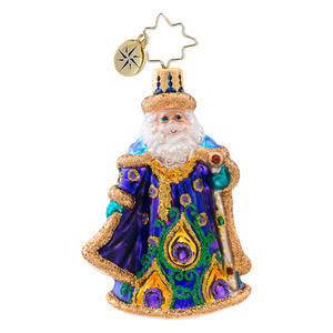 RADKO 1017075 PAPA PLUMAGE GEM - PEACOCK SANTA ORNAMENT - NEW 2014 (22)