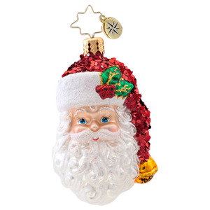 RADKO 1017074 WITH A SMILE GEM - SANTA ORNAMENT - NEW 2014 (22)