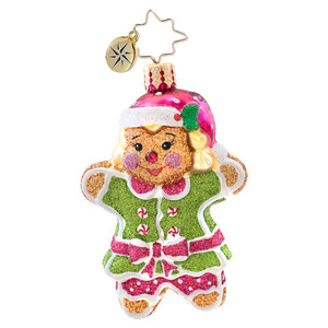 RADKO 1017077 GINGER JILL GEM - GINGERBREAD GIRL ORNAMENT - NEW 2014 (22)