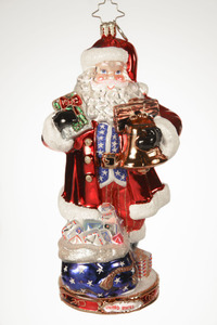 RADKO 1017428 NATIONAL TREASURE NICK - UNITED STATES - AMERICAN SANTA - CHRISTMAS AROUND THE WORLD COLLECTION - NEW 2014 (14-1)
