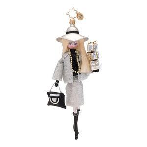 RADKO 1017008 DOWNTOWN DIANE - SHOPPING DIVA - ITALIAN ORNAMENT - NEW 2013 (13-20)