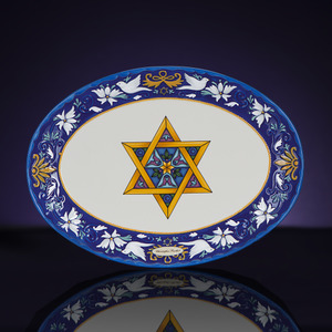 RADKO 2011975 SOLOMON'S SEAL STAR PLATTER - HANUKKAH - NEW FOR 2013