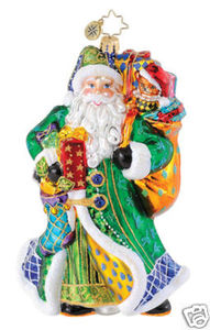 RADKO 1015184 BELLE COURT BLUE - SANTA COLLECTION 2010 - RETIRED ORNAMENT (Q)