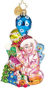 RADKO 1010308 CHRISTMAS MAKING MAGIC - PEDIATRIC CANCER CHARITY - RETIRED ORNAMENT (E1)