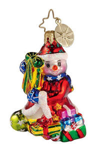 RADKO 1012593 POPSICLE PRESENTS GEM - SNOWMAN - RETIRED