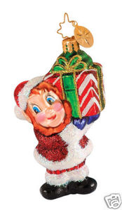 RADKO 1014637 HELPFUL HANDFUL GEM - ELF - RETIRED ORNAMENT (17)