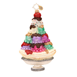 RADKO 1017329 SUPER SUNDAE - BANANA SPLIT ICE CREAM ORNAMENT - NEW 2014 (14-11)