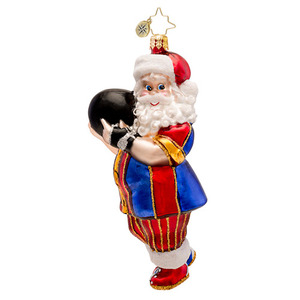 RADKO 1017278 KINGPIN CLAUS - BOWLING SANTA ORNAMENT - NEW 2014 (14-9)