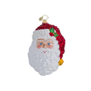 RADKO 1016446 WITH A SMILE AND A WINK - SANTA WITH STOCKING CAP ORNAMENT - NEW 2013 (13-3)