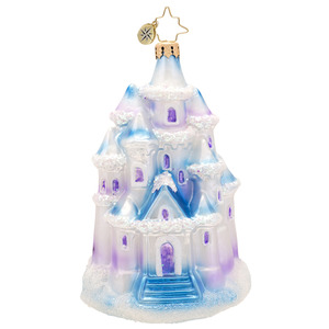 RADKO 1017437 CRYSTAL PALACE - SNOW COVERED HOUSE ORNAMENT - NEW 2014 (14-13)