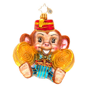RADKO 1017160 MONKEY NOISE - MONKEY WITH SYMBOLS ORNAMENT - NEW 2014 (14-6)