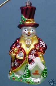 RADKO 3010842 HOME IN MY HEART - CHARITY - SNOWMAN - RETIRED ORNAMENT (HH)