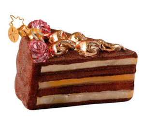 RADKO 1013433 AUNT BEA'S RECIPE - CHOCOLATE CAKE - RETIRED ORNAMENT (W)