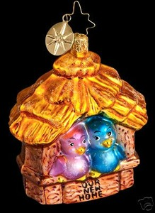 RADKO 1012507 HOLIDAY LOVE NEST - OUR NEW HOME - RETIRED ORNAMENT (R)