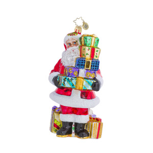 RADKO 1016439 QUITE AN ARMFUL - SANTA WITH ARMFUL OF GIFTS ORNAMENT - NEW 2013 (13-3)