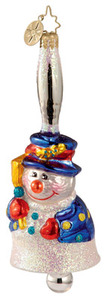 RADKO 1012810 - SILVER BELL SUITE - GERMAN BELL - SNOWMAN - RETIRED ORNAMENT (Y1)