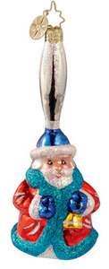 RADKO 1012810 - SILVER BELL SUITE - GERMAN BELL - SANTA - RETIRED ORNAMENT (Y1)
