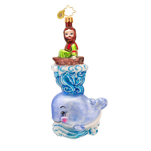 RADKO 1017327 WHALE Of A RIDE - JONAH AND THE WHALE ORNAMENT - NEW 2014 (14-11)