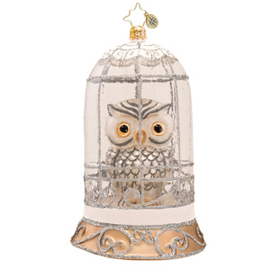 RADKO 1017271 WISDOM ON DISPLAY - LIMITED EDITION - OWL IN DOME ORNAMENT - NEW 2014 (14-2)
