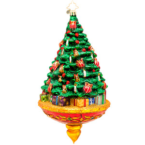 RADKO 1017133 JOYOUS CELEBRATION - LIMITED EDITION - TREE WITH CANDLES ORNAMENT - NEW 2014 (14-2)