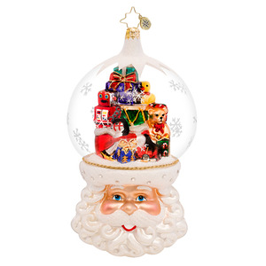 RADKO 1017473 CHRISTMAS ON MY MIND - LIMITED EDITION - SANTA WITH TOYS IN DOME ORNAMENT - NEW 2014 (14-2)