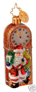 RADKO 1014220 GRANDFATHER CHRISTMAS GEM - SANTA - CLOCK - RETIRED ORNAMENT (16)