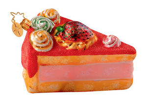 RADKO 1013433 AUNT BEA'S RECIPE - STRAWBERRY CAKE - RETIRED ORNAMENT (W)