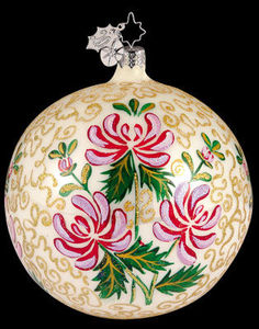 RADKO 1011787 DELFT ROSE - FLOWER GLASS ORNAMENT - RETIRED (YY)