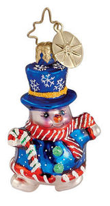 RADKO 3010907 SNO-FUN SNOWMAN GEM - RETIRED ORNAMENT (2)