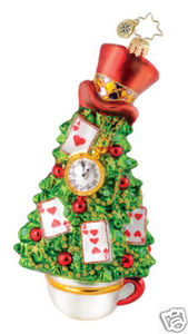 RADKO 1015107 ALICE'S TREE IN WONDERLAND ORNAMENT - HATTER - NEW 2010 (Q2)