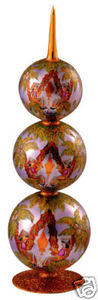 RADKO 1013514 ORIENT EXPRESS FINIAL - TREE TOPPER OR TABLE TOP FINIAL (F1)