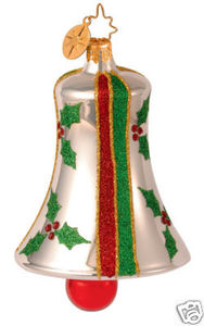 RADKO 1013844 HOLLY MINT CHIMES - BELL - RETIRED ORNAMENT (GG3)