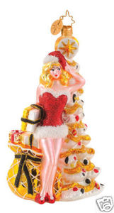 RADKO 1014676 HELLO HOLLY - SEXY GIRL ORNAMENT - TREE - NEW 2009 (G3)