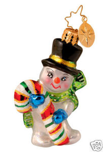 RADKO 1012968 MR SWEETS GEM - SNOWMAN - CANDY CANE - RETIRED ORNAMENT (7)