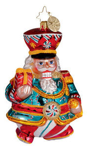 RADKO 1012608 PEPPERMINT PRINCE - NUTCRACKER- RETIRED ORNAMENT