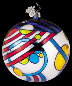 RADKO 1011802 DAZZLERS GEOMETRIC SHAPES BALL ORNAMENT#6 (XX)