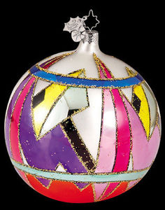 RADKO 1011802 DAZZLERS GEOMETRIC SHAPES BALL ORNAMENT#5 (XX)