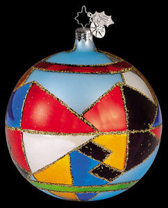 RADKO 1011802 DAZZLERS GEOMETRIC SHAPES BALL ORNAMENT#3 (XX)