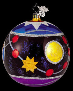 RADKO 1011802 DAZZLERS GEOMETRIC SHAPES BALL ORNAMENT#2 (XX)