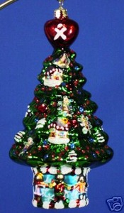 RADKO 3011959 CELEBRATE ADOPTION 2007 ORNAMENT - CHRISTMAS TREE (AA)