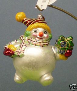 RADKO 3011134 HAVIN' A BALL - RECOLORED SNOWMAN - RETIRED ORNAMENT (PP)