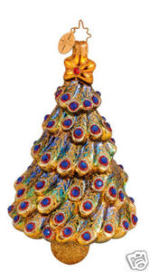 RADKO 1014128 TANNEBAUM TREASURES - PEACOCK JEWELED TREE - RETIRED ORNAMENT (UU)