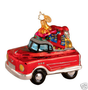 RADKO 1014116 RETRO ROADSTER - KIDDIE CAR - RETIRED ORNAMENT (L1)